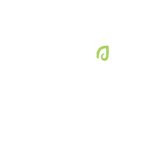 The logo of Rustico Gourmet Grocer which is a circle around the name with a little green leaf icon over the i.